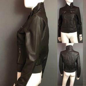 Jackets & Blazers - Coalition Apparel Leather Bomber Jacket